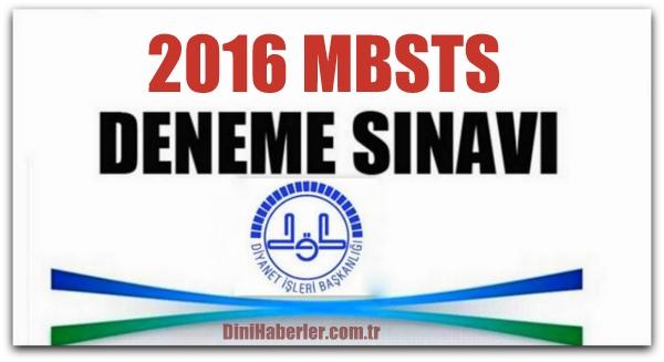 MBSTS Deneme Sınavları 1