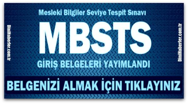 MBSTS Sınav Yerleri Açıklandı
