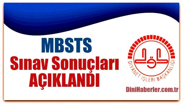 MBSTS Sonuçları açıklanıyor!