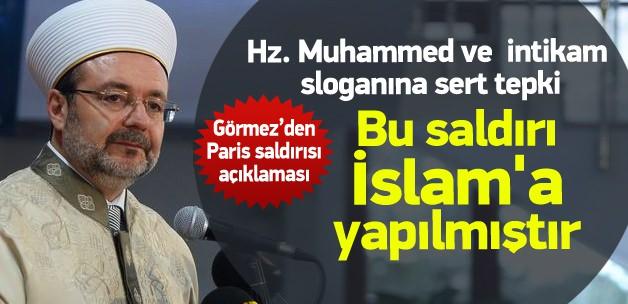 Mehmet Görmez: Saldırı tüm insanlığa yöneliktir