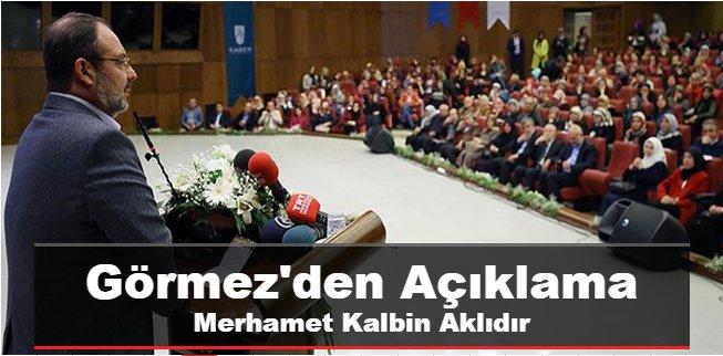 Mehmet Görmez\'den Açıklama Merhamet kalbin aklıdır