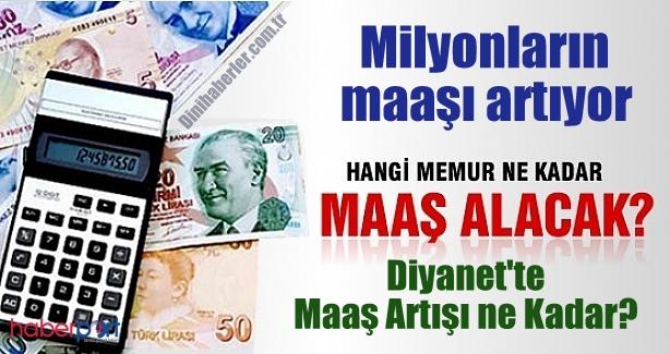Milyonların maaşı artıyor, Diyanet\'te Maaş Artışı ne Kadar?