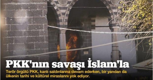 PKK 500 yıllık camiyi yaktı