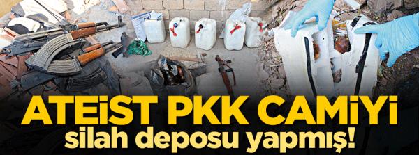 PKK camiye silah yığmış!