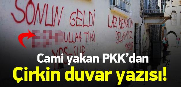 PKK\'dan çok çirkin duvar yazısı