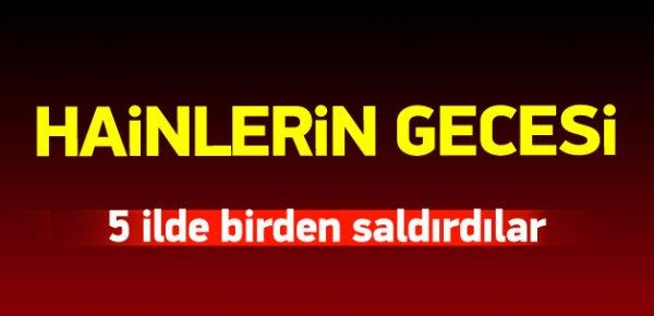PKK'lı teröristlerden 5 ilde kalleş saldırı!