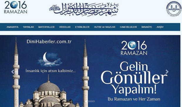 Ramazan Ayına Özel İnternet Sitesi Yayında