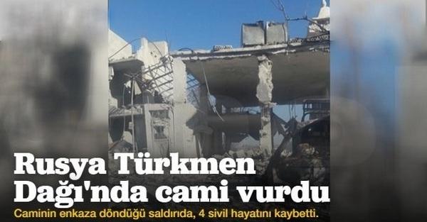 Rusya Türkmen Dağı\'nda cami vurdu