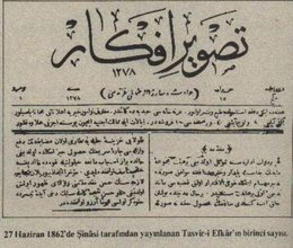 Tarihte bugün: Tasvir-i Efkar gazetesi yayına başladı