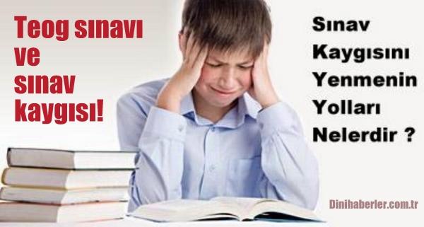 Teog sınavı ve sınav kaygısı!