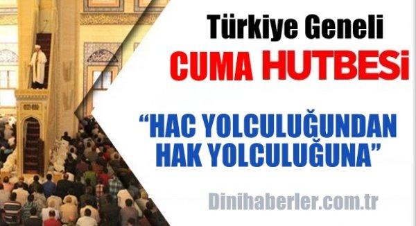 Türkiye Geneli 28.08.2015 Tarihli Cuma Hutbesi