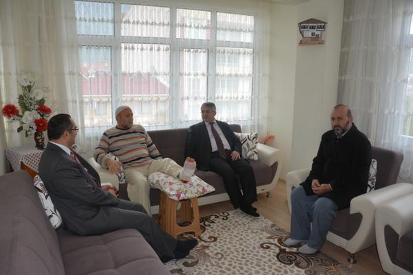 Vinç Kazasında Yaralanan Hacı Mustafa Yurtseven Ziyaret Edildi