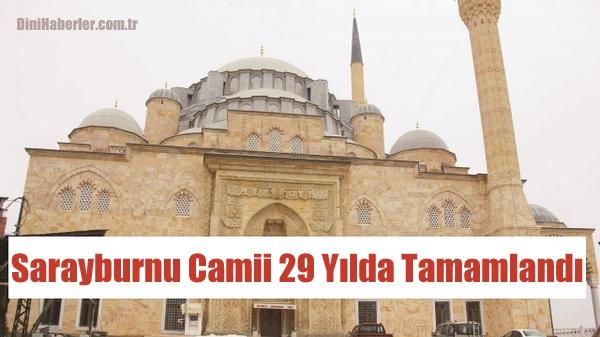 Yığma taş cami 29 yıl sonra tamamlandı